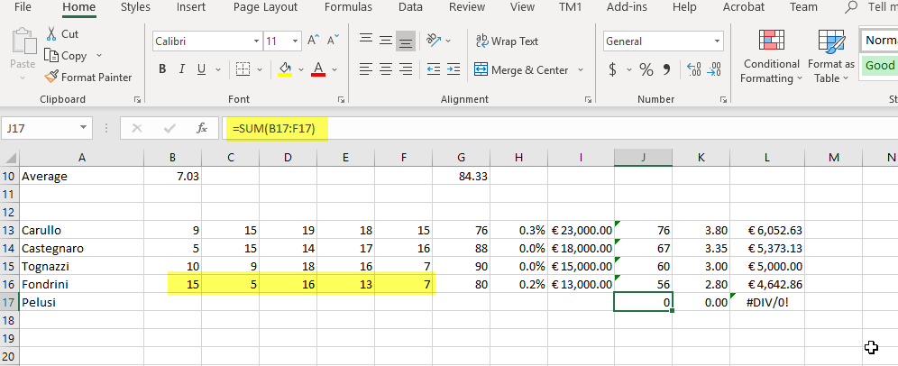 Excel Formulas – The TM1 Channel